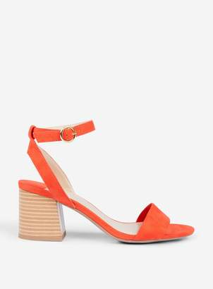 Dorothy Perkins Womens Wide Fit Red 'Shady' Block Heeled Sandals, Red