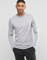 Lindbergh Sweater In Merino Wool In Gray