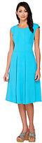 George Simonton Stretch Crepe Dress with Seam Details & Pockets