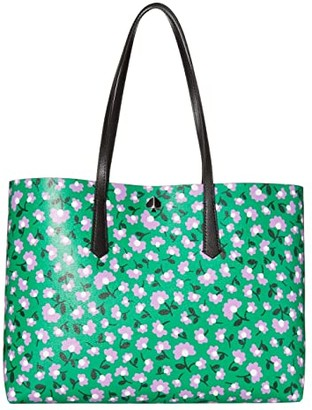 Kate Spade Molly Party Floral Large Tote (Green Multi) Bags