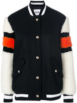 MSGM buttoned bomber jacket