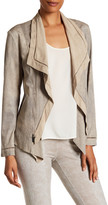 Insight Draped Faux Leather Jacket