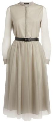 Fabiana Filippi Tulle Midi Dress