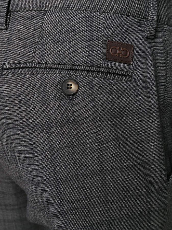 Salvatore Ferragamo checked trousers