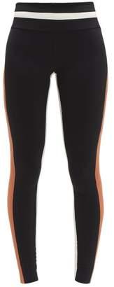 Vaara Flo Stretch-jersey Leggings - Womens - Black Brown Multi