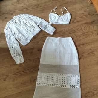 Charo Ruiz Ibiza White Lace Dress for Women
