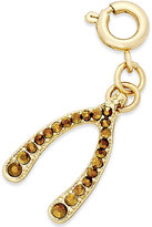 INC International Concepts Gold-Tone Crystal Wishbone Charm, Only at Macy's