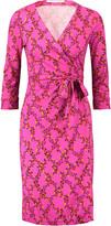 Diane von Furstenberg Julian printed silk wrap mini dress