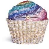 Judith Leiber Rainbow cupcake crystal pavé minaudière