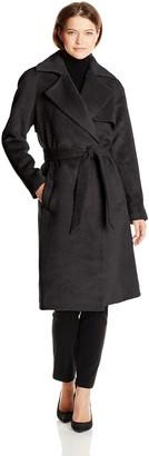 Trina Turk Women's Delaney Long Wool Wrap Coat