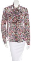 Derek Lam 10 Crosby Floral Print Tie Front Top