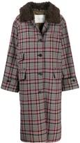 MACKINTOSH Forfar checkered long coat