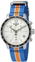 Tissot Men's 'Quickster' Swiss Quartz Stainless Steel and Nylon Watch, Multi Color (Model: T0954171703706)