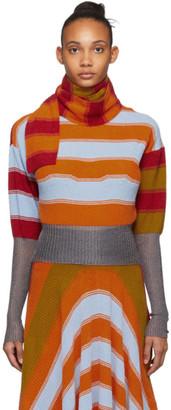 KIKO KOSTADINOV Multicolor Striped Pistolera Scarf Sweater