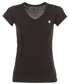 G Star Raw EYBEN SLIM V T WMN S/S women's T shirt in Black