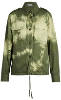 Raey Patch-pocket tie-dye twill jacket