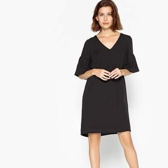 Vero Moda Short-Sleeved V-Neck Dress with Ruffles