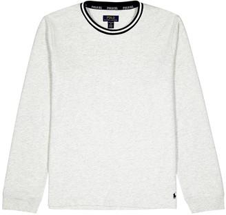 Polo Ralph Lauren Grey cotton-blend jersey top