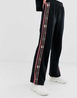 Juicy Couture choose juicy slogan taped wide leg trackpants