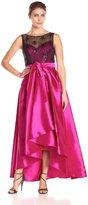 Ignite Women's 1 Piece Sequened Illusion Top Full Taffeta Ball Gown Skirt