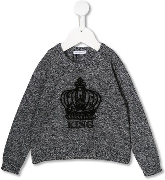 Dolce & Gabbana crown embroidered sweater