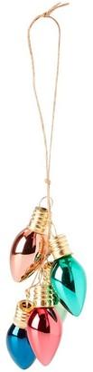 Glitterville Lightbulb Metallic Glass Ornament