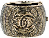 Chanel Lace Inlay Hinged Cuff