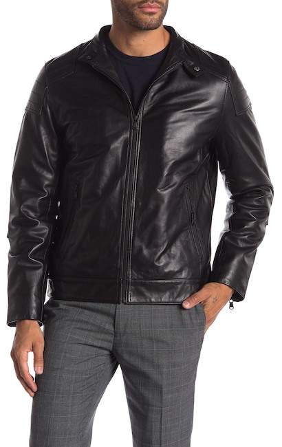 Moto Campaign Black Lamb Leather Jacket