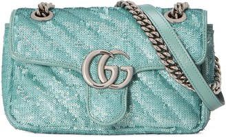 Gucci GG Marmont mini sequin shoulder bag