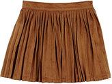 Billieblush Pleated Skirt-BROWN
