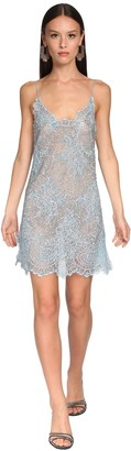 Ermanno Scervino Embellished Sheer Lace Camisole Dress