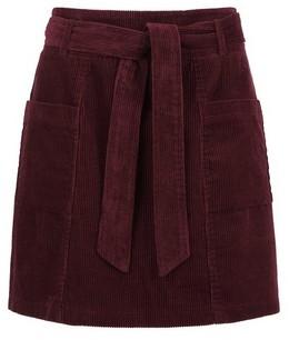 Dorothy Perkins Womens Lola Skye Burgundy Paperbag Skirt