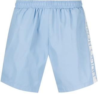 HUGO BOSS logo lined swimming trunks