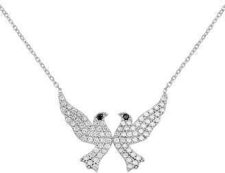 GABIRIELLE JEWELRY Silver Cz Dove Necklace