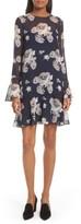 Theory Women's Marah Floral Chiffon Dress