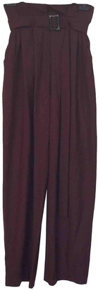 By Malene Birger Burgundy Polyester Trousers