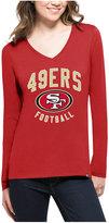 '47 Women's San Francisco 49ers Splitter Arch Long-Sleeve T-Shirt