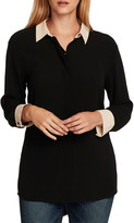 Vince Camuto Contrast Collar Blouse