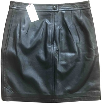 Des Petits Hauts Black Leather Skirt for Women