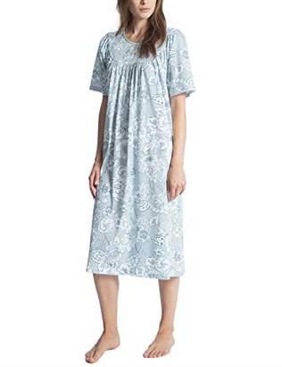 Calida Women's Soft Cotton Nightie, (Summer Blue 560), X-Small