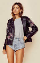 BB Dakota baxley embroidered moto jacket
