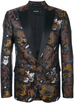 DSQUARED2 metallic embroidered blazer - men - Silk/Cotton/Polyester - 46