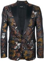 DSQUARED2 metallic embroidered blazer