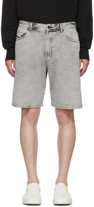 Diesel Grey Denim D-Willoh Shorts