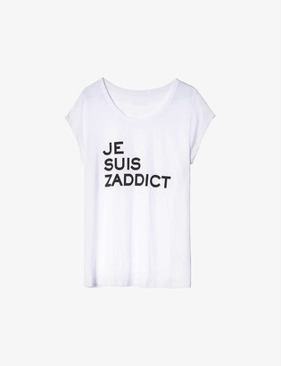 Zadig & Voltaire Antonia cotton and modal-blend T-shirt