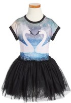 Rock Your Baby Toddler Girl's Swans Way Circus Dress