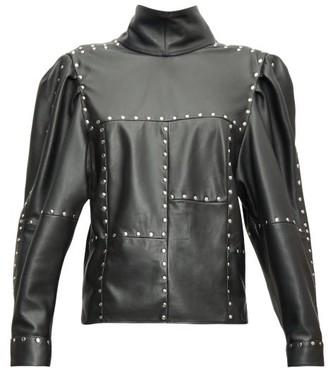 Isabel Marant Veneza Studded Leather Top - Black