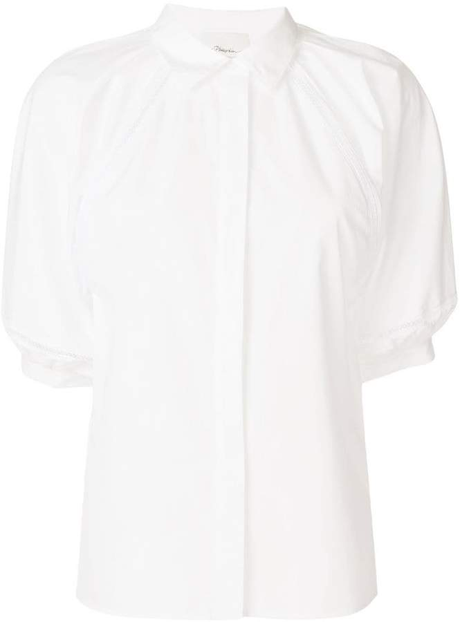 3.1 Phillip Lim puff-sleeve fitted shirt