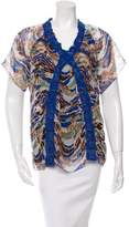 M Missoni Silk Printed Blouse