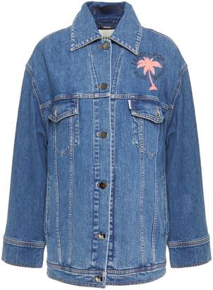 Fendi Embellished Printed Denim Jacket